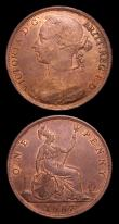 London Coins : A152 : Lot 2503 : Pennies (2) 1887 Freeman 125 dies 12+N A/UNC with traces of lustre, Ex-KB Coins February 1994 £...