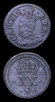 London Coins : A152 : Lot 623 : Coin Weights (2) Charles I Unite, Good Fine with some pitting and 6 Shilling with the reverse of a s...