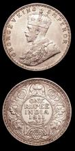 London Coins : A153 : Lot 1037 : India Rupee 1911 'Pig', Bombay Mint KM#523 GEF with some contact marks, Mombasa Quarter An...