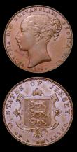 London Coins : A153 : Lot 1085 : Jersey 1/52nd Shilling 1841 1 over 0 (2) S.7003 different varieties 41 close VF with a heavier conta...