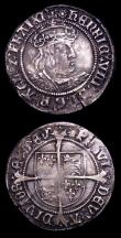 London Coins : A153 : Lot 2105 : Groat Henry VIII Second Coinage S.2337E Laker Bust D Mintmark Rose NVF with a couple of old scuffs, ...