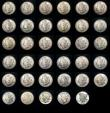 London Coins : A154 : Lot 1158 : USA Dollars a collection in 2 Dansco albums (56) Morgan Dollars by date (28) 1878CC, 1879O, 1880, 18...