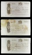 London Coins : A154 : Lot 326 : Scotland Bank of Scotland promissory notes (3) all dated 184x, £20 in aUNC, £50 stained ...
