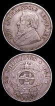London Coins : A154 : Lot 915 : South Africa (2) Halfcrown 1893 KM#7 Good Fine, Sixpence 1893 KM#4 Good Fine/Fine the obverse with a...
