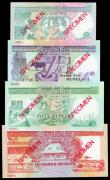 London Coins : A155 : Lot 1980 : Seychelles (4) SPECIMENS No.0301, 10 rupees, 25 rupees, 50 rupees & 100 rupees, all issued 1989 ...