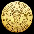 London Coins : A155 : Lot 2098 : FAO World Food Day medal undated 59.44 grammes of 18 carat gold, this medal only given to dignitarie...