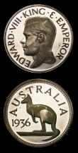 London Coins : A155 : Lot 2172 : Australia INA Retro Series Fantasy Crown 1936 Edward VIII in silver, a trial having no obverse borde...