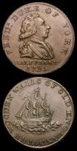 London Coins : A156 : Lot 779 : Halfpennies 18th Century Middlesex (2) National Series 1795 Duke of York/The Wooden Walls of Old Eng...