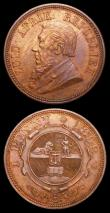 London Coins : A157 : Lot 1604 : South Africa (2) Penny 1892 KM#2 EF with traces of lustre, Halfcrown 1893 KM#7 Fine