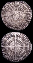 London Coins : A157 : Lot 1880 : Groat Henry VI Annulet issue Calais Mint S.1836 Annulets at neck, mintmark pierced cross Fine, Halfg...