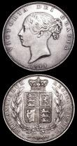 London Coins : A157 : Lot 2530 : Halfcrowns (2) 1843 as ESC 676 with the broken R in GRATIA VG with some long thin scratches on the o...