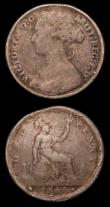 London Coins : A157 : Lot 778 : Pennies (2) 1866 and 1879 both imitations VG to Fine, previously part of the Laurie Bamford collecti...