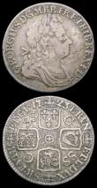 London Coins : A158 : Lot 2445 : Shilling 1723 SSC French Arms at Date ESC 1177 About Fine/Fine with scratches on the portrait, Rare,...