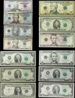London Coins : A158 : Lot 553 : USA Federal Reserve Note (13), 50 Dollars, 20 Dollars, 10 Dollars (3), 5 Dollars (3), 2 Dollars (4),...