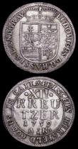 London Coins : A159 : Lot 3152 : German States (2) Hesse-Darmstadt 12 Kreuzer 1759 AK KM#178Good Fine, Bavaria 2 Kreuzer 1626 KM#128....