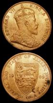 London Coins : A159 : Lot 3261 : Jersey 1/12th Shilling (2) 1909 and 1911 both lustrous Unc