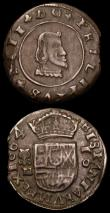 London Coins : A159 : Lot 3387 : Spain (2)  8 Maravedis 1604 Segovia Mint , mintmark Aqueduct About VF, comes with old collector&#039...