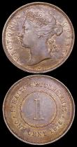 London Coins : A159 : Lot 3435 : Straits Settlements One Cent (2) 1875W KM#16 VF with a few light contact marks, 1903 KM#19 approachi...