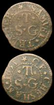 London Coins : A159 : Lot 351 : 17th Century London Bishopsgate Without 1655 I.H.M, Dickinson 30 Fine, Buckinghamshire Halfpenny 166...