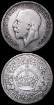 London Coins : A159 : Lot 737 : Crowns (2) 1928 ESC 368 Near Fine, 1931 ESC 371 Fine