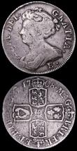 London Coins : A160 : Lot 2514 : Shillings (2) 1702 First Bust ESC 1128 Fine/Good Fine the reverse with a tone spot, 1708 E* ESC 1145...
