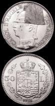 London Coins : A160 : Lot 3432 : Romania (2) 100 Lei 1936 KM#54 About EF with some contact marks, 50 Lei 1938 KM#55 Lustrous UNC with...