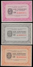 London Coins : A160 : Lot 489 : Poland (3), 5 Groszy, 20 Groszy & 50 Groszy, Kobierzyn Hospital Vouchers, a state hospital for t...