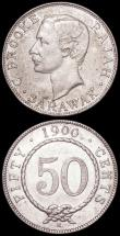 London Coins : A161 : Lot 1336 : Sarawak 50 Cents (2) 1900H KM#11 NVF/GF, 1906H KM#11 Good Fine/Fine, both scarce