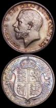 London Coins : A161 : Lot 1757 : Halfcrown 1911 Proof ESC 758, Bull 3710 nFDC and attractively toned, Shilling 1911 Proof ESC 1421, B...