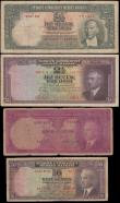 London Coins : A161 : Lot 453 : Turkey Central Bank (4), 2 1/2 Lirasi issued 1939, scarce early issue, (Pick126), some dirt, small p...