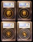 London Coins : A161 : Lot 780 : United Kingdom 2007 4-coin gold set in 'British Royal Mint' PCGS holders comprising Five P...