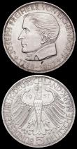 London Coins : A162 : Lot 1181 : Germany - Federal Republic 5 Marks (2) 1957J Centenary of the Death of Joseph Freiherr von Eichendor...