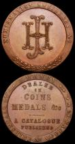 London Coins : A163 : Lot 14 : Halfpennies (2) 18th Century Middlesex Lackingtons undated, J.Palmer Mailcoaches DH363 EF with trace...