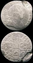 London Coins : A163 : Lot 176 : Mint Errors - Mis-Strikes (2) Shilling 1723 SSC VG/Fine with an additional part of a second coin str...