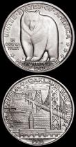 London Coins : A163 : Lot 2183 : USA Half Dollar Commemorative issues (2) 1936S San Francisco -Oakland Bay Bridge, Breen 7555 Lustrou...