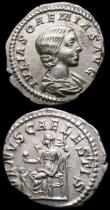 London Coins : A163 : Lot 227 : Roman Ar Denarius (3) Julia Soaemias (220-222AD) Obverse: Draped bust, right, IVLIA SOAEMIAS AVG, Re...