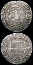London Coins : A163 : Lot 283 : Groat Henry VIII Second Coinage, Laker Bust D, S over higher S in POSVI, S.2337E, mintmark Rose Abou...