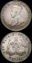 London Coins : A164 : Lot 283 : Australia (2) Florin 1916M KM#27 NEF, Sixpence 1910 KM#19 VF with grey tone