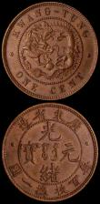 London Coins : A164 : Lot 330 : China - Kwangtung Province Cent (10 Cash) undated (1900-1906) GEF toned, China - Republic 10 Cash Y#...