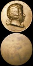 London Coins : A164 : Lot 705 : Memorial Medals (3) Mozart 1756-1791 by A.Hartig uniface 74mm diameter in bronze A/UNC in the box of...