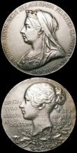 London Coins : A164 : Lot 715 : Queen Victoria Diamond Jubilee 1897 (6) the original Royal Mint issues in silver Eimer 1817 56mm dia...