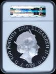 London Coins : A164 : Lot 84 : Five Hundred Pounds 2016 Queen Elizabeth II 90th Birthday 1 Kilo Silver Proof, in a large NGC holder...