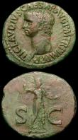 London Coins : A165 : Lot 2006 : Roman Ae As (2) Caligula (37-41AD) Obverse: Bare head left C CAESAR AVG GERMANICVS PON M TR POT, Rev...
