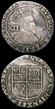 London Coins : A165 : Lot 2464 : Shilling James I Second Coinage S.2674 mintmark Lis Near Fine, Twopence Charles II Third Hammered is...
