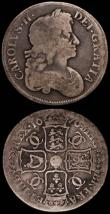 London Coins : A165 : Lot 2716 : Halfcrown 1707 Plain in angles and below bust, SEPTIMO edge ESC 574, Bull 1366 NVF/Good Fine, Crown ...