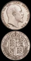 London Coins : A165 : Lot 2755 : Halfcrown 1902 Matt Proof ESC 747, Bull 3568 nFDC-FDC and with original grey toning