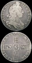 London Coins : A165 : Lot 3855 : Crowns 1695 (2) the first with OCTAVO edge ESC 87, Bull 991, and with much double striking to both o...