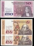 London Coins : A165 : Lot 634 : Ireland Republic The Central Bank of Ireland 1976-82 Issues (3) including a consecutive set 5 pounds...