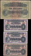 London Coins : A165 : Lot 890 : East Africa (4) The East African Currency Board Nairobi 1 Shillings Pick 27 dated 1st January 1943  ...