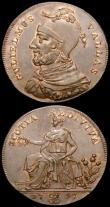 London Coins : A166 : Lot 1269 : Halfpennies 18th Century Scotland (2) , Ayrshire 1797 Obv: Armoured Bust left GULIELMUS VALLAS, Reve...